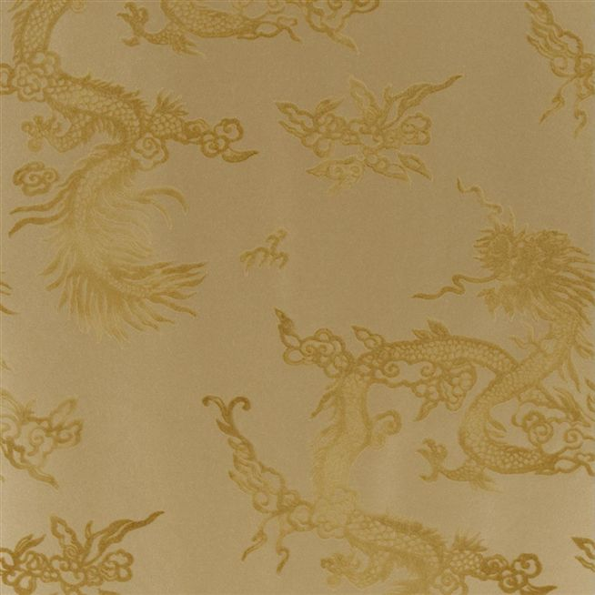 Jinping Dragon Champagne Wallpaper Ralph Lauren