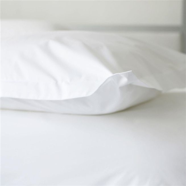 Navello White Single Fitted Sheet