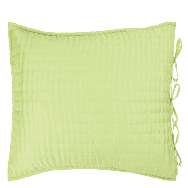 Chenevard Wild Lime & Pale Mint Square Pillowcase
