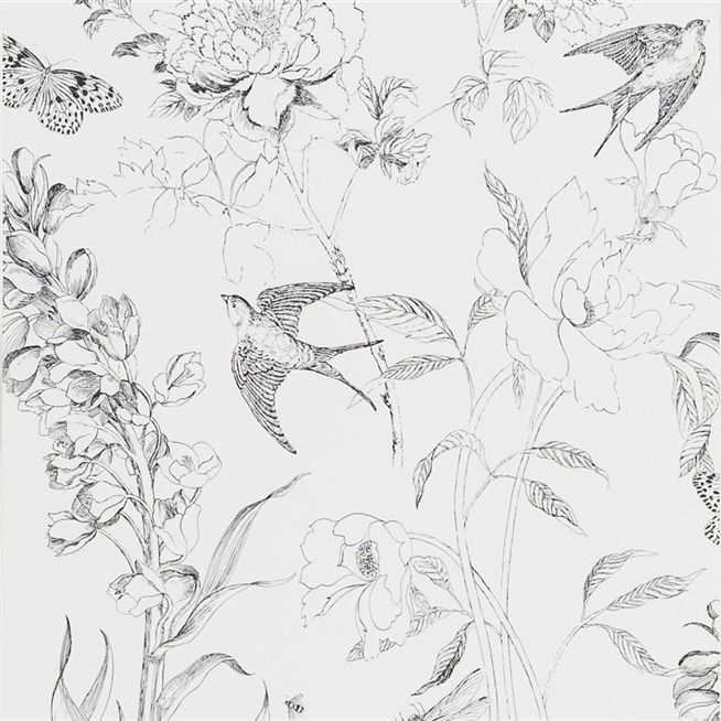 Sibylla Garden Black And White Wallpaper Designers Guild