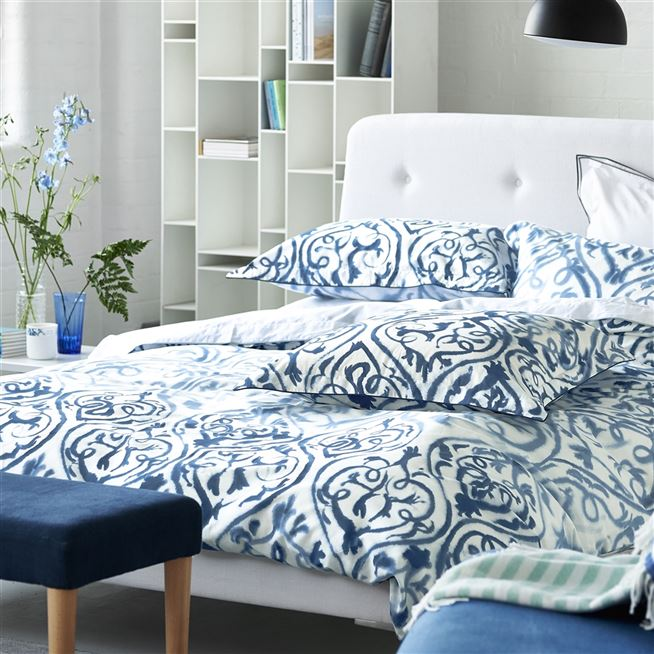 Attractive Indigo Bed Linen Part - 11: Designers Guild