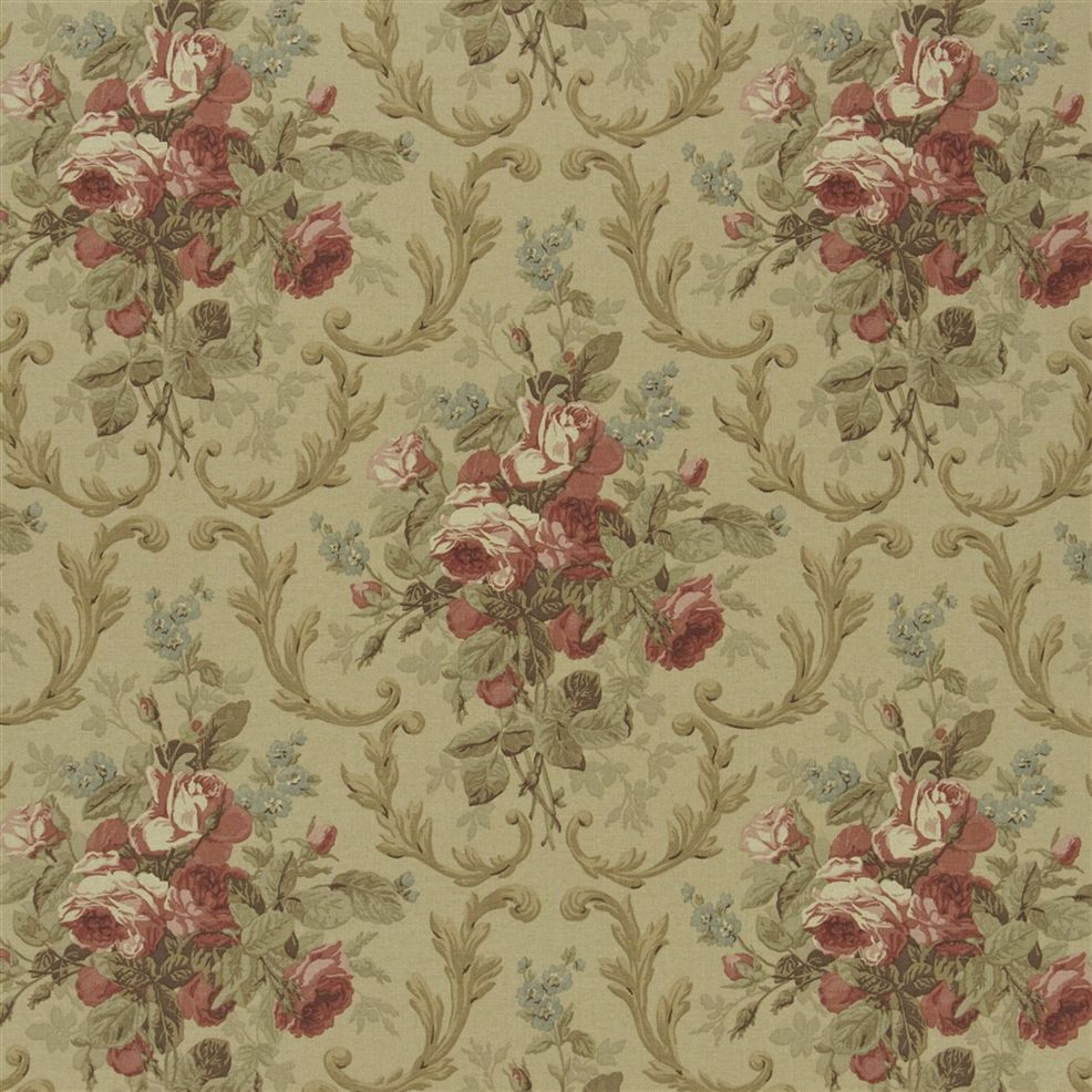 Cottage Rose Floral Tea Rose Fabric Raplh Lauren