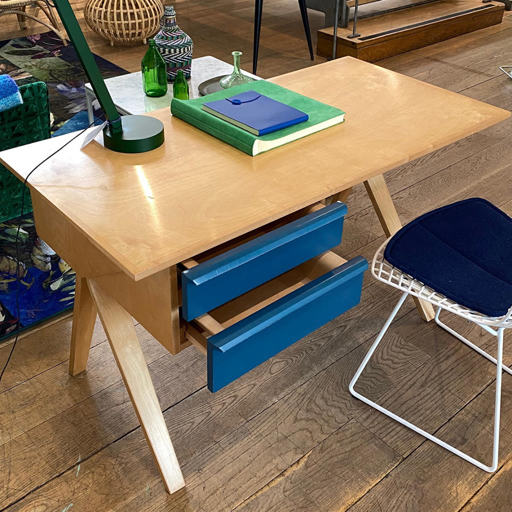 Vintage EB02 Plywood Desk by Cess Braakman for Pastoe